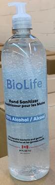 Bio Life Hand Sanitizer Recall