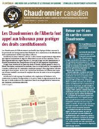 Le Chaudronnier canadien bulletin national - Décembre 2018