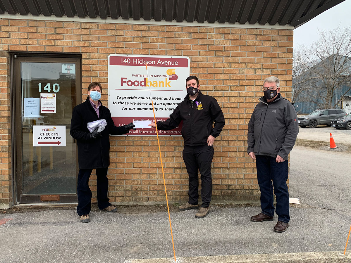 Kingston Donation: Partners in Mission Food Bank